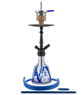 Amy Deluxe® Little Princess Blue with black stem Shisha / Hookah