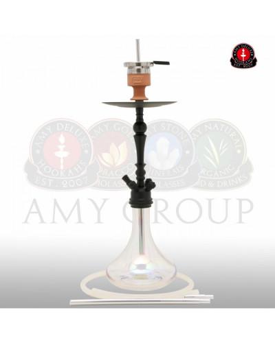 Amy Deluxe® 057R Globe Rainbow Clear Shisha / Hookah